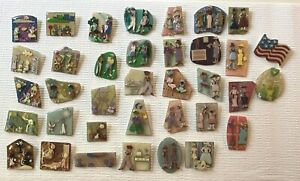 COLLECTIBLE  LOT OF 36 PINS BY LUCINDA YATES, ME Little People, Woman!  Lot#3