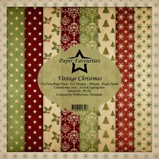 New Dixi Craft  Paper Favourites 15cm x 15cm Paper Pad Vintage Christmas