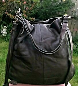 Crew Clothing Quality Real Leather handbag crossover/shoulder Roomy Slouch Bag