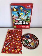 Nintendo Wii Nuevo Super Mario Bros Juego con manual y tarjeta de puntos del club-PAL-en muy buena condición