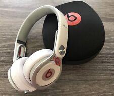 Beats by Dre Mixr White Headband Headphones w/ case