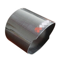 4.5 INCH 114mm Carbon Exhaust Pipe Cover Glossy Muffler End Tip Cover For Car