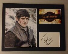 [A0275] Iwan Rheon Signed Game of Thrones 12x16 Display AFTAL