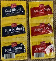 Baker's Corner 6 Packets ACTIVE DRY YEAST Compared to Fleischmann's Baking Bread