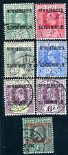 NOUVELLES HEBRIDES 1911 Yvert 20-26 gestempelt 84€(D7518