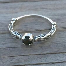 Celtic Dragon Ring .925 Sterling Silver sz 7 w/ Natural Bloodstone Heliotrope