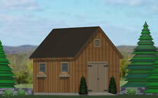 SHED PLANS BLUEPRINTS  10 x 14 TRADITIONAL STYLE