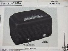 CROSLEY 56TG RADIO PHOTOFACT