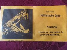 Rattlesnake Eggs Envelope Wind-up Joke Gag Prank