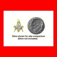 SMALL»RHINESTONE BLUE LODGE MASONIC FREE MASON LAPEL PIN FREEMASON LOGO EXC GIFT