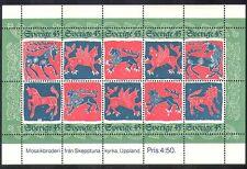 La Suède de Noël 1974/animaux/GREETINGS/Lion/LICORNE/animation 10 V M/S (n38781)