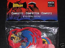 NIP Batman Birthday Big Confetti Party Supplies DC Comics 2/3oz.