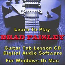 BRAD PAISLEY Guitar Tab Lesson CD Software - 20 Songs