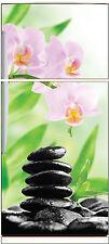 Stickers frigo électroménager déco cuisine Orchidée réf 652