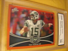 TIM TEBOW N.Y. JETS 2012 TOPPS CHROME ORANGE REFRACT0R # 180 GRADED 10 L@@@K