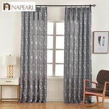 NAPEARL 1 Panel Semi-blackout Jacquard Curtains Bedroom Window Decorative Drapes
