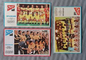 "Pele Brasil World Cup Winners 1958 1962 1970, ""Start"" Newspaper cuts 70/80s Pelé"