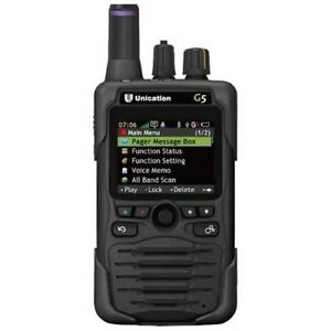 Unication G5 P25 UHF (450-520) 700/800 Pager 5 YR WARRANTY