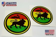 2 - Rasta Patches Stickers Decals Lion of Judah Jamaica