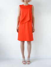 HOF115: COS Kleid ärmellos viskose rot / Raw layer dress sleeveless neon red S