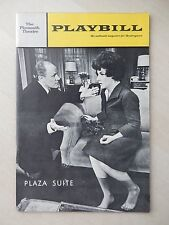 Movember 1968 - Plymouth Theatre Playbill - Plaza Suite - Maureen Stapleton