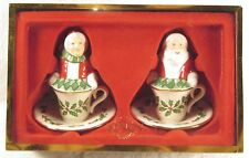 Lenox Santa & Mrs. Claus Teacup Salt and Pepper Shakers Christmas #6146195 w/Box