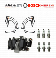 Ignition Coil + Spark Plugs + Wire Sets (Left + Right) for Audi A4 / A6