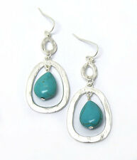 HORSE & WESTERN JEWELLERY JEWELRY WESTERN THEME EARRINGS SILVER TURQUOISE