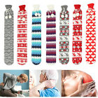 Shape Hot Water Bottle Winter Hand Warmer Pain Relief with Coral Flannel Cover