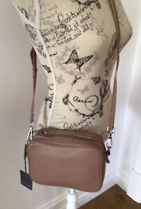Country road Leather cross body bag, Biscuit Colour, RRP $149.00, Brand New
