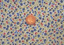 Escala 1:12 material azul con un patrón de flor tumdee Casa De Muñecas Accesorio M4