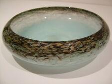 RARE COMPLETE WITH PAPER LABEL MONART GLASS AVENTURINE LARGE BOWL SCOTTISH 165