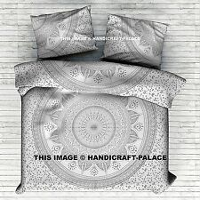 King Size Ombre Mandala Duvet Quilt Cover Throw Indian Doona Cover Blanket Set