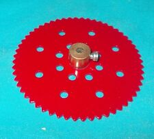 meccano roue de chaine 56 dents, No95b rouge