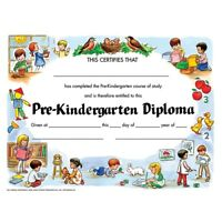 Flipside H-VA200CLBN Pre-Kindergarten Diploma Certificate - Pack of 6