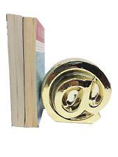 Goldtone Decorative Book End @ sign