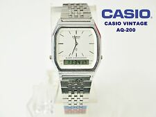 VINTAGE NEW! CASIO COLLECTION AQ-200 NOS DUAL TIME