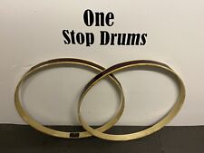 "Pearl Bass Drum 22"" Red Wooden Hoops Rims Hardware Tension"