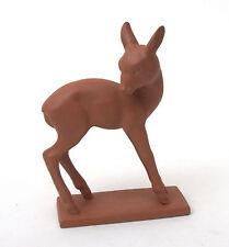 Hertwig & Co Katzhutte Art Deco Terracotta Standing Deer 1914-1945