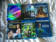 Fast And Furious 1 2 3 6 Terminator Psycho G-Force Good Dinosour 4K Blu Ray Lot
