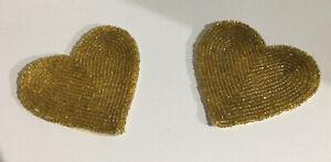 Set of 2  Beaded  Heart Coasters