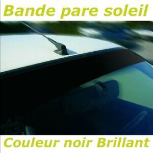 Bande Pare soleil Noir Brillant- Sticker autocollant Pare brise Bandeau - 287