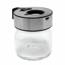 Smokus Focus Quasar LED Magnifying Lid for Mason Jar Display Stainless Finish