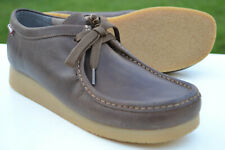 Clarks Mens Wallabee Style Shoes STINSON LO Beeswax Leather UK 9.5 / 44