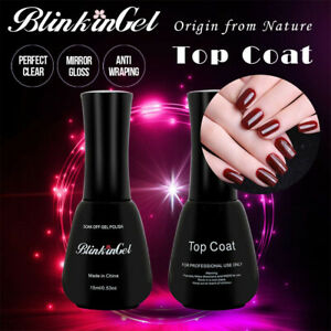 BlinKinGel Nail Gel Polish 15ml Top Coat UV Light Soak Off UV LED Nail Lacquer