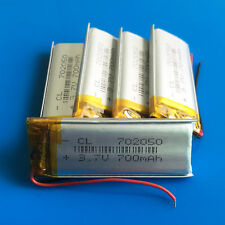 5 pcs 700mAh LiPo Battery 3.7V for MP3 MP4 Video Game GPS Camera Recorder 702050