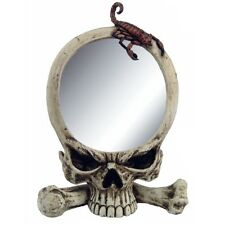 Totenschädel Schädel Spiegel mit Scorpion Skull Gothic Halloween Fanatsy DOD183