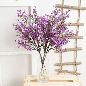 1Pc Gypsophila Artificial Flowers Fake Floral Cherry Blossoms Long Stem Branch