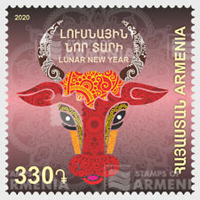 ARMENIA 2020 ZODIAC LUNAR NEW YEAR OF OX 2021 COMP. SET OF 1 STAMP IN MINT MNH
