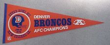 1978 SUPER BOWL XII SB 12 DENVER BRONCOS GAME DAY PENNANT UNSOLD STOCK